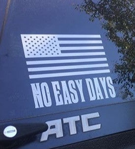 American Flag Decal - No Easy Days Apparel