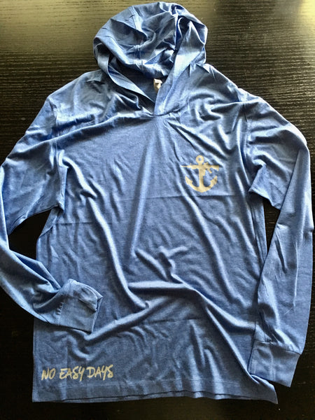 Jersey Pullover - Royal Blue - No Easy Days Apparel