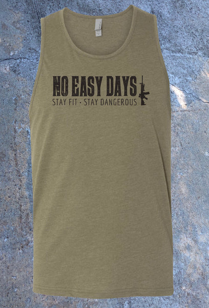 Stay Fit Stay Dangerous 2.0 Tank - No Easy Days Apparel