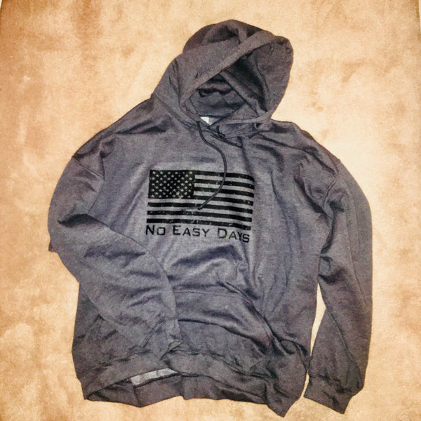 American Flag Hoodie - No Easy Days Apparel