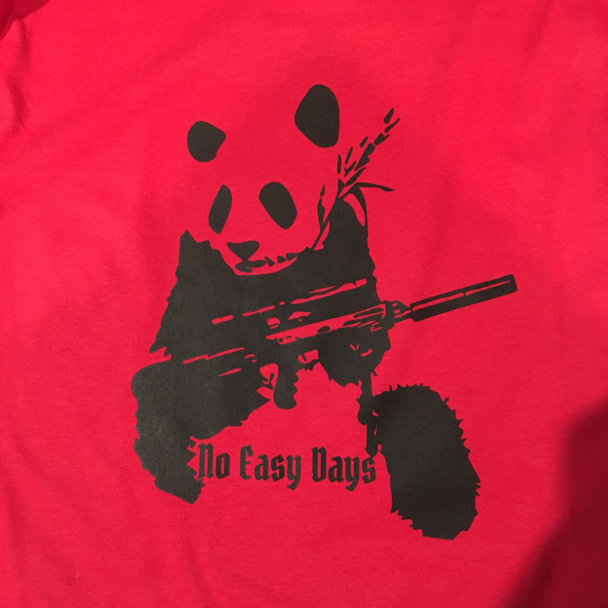 Panda - No Easy Days Apparel