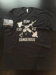 Stay Fit Stay Dangerous - No Easy Days Apparel
