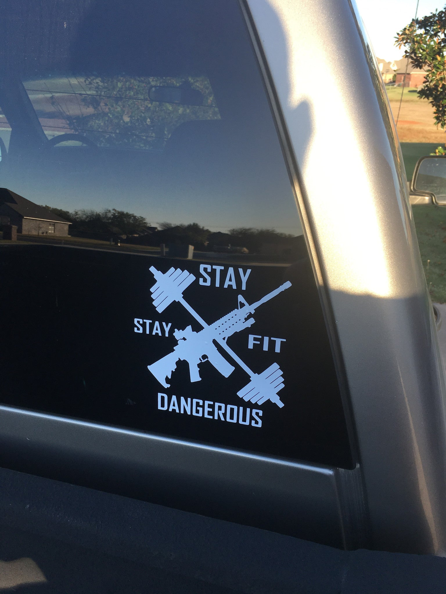 Stay Fit Stay Dangerous Decal - No Easy Days Apparel