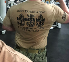 Chief's Mess - Don't Expect A Seat - No Easy Days Apparel