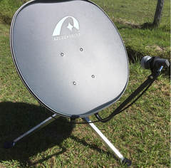 80 cm KU Band Fixed Offset Satellite Dish with removable arm