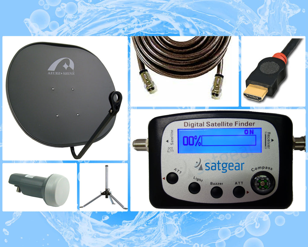 Satgear Caravan Satellite Kit - Single LNB - BYO Decoder