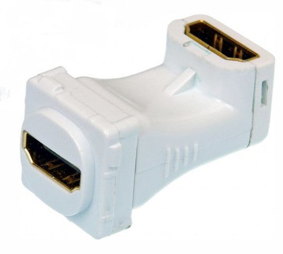 Wall Plate Insert HDMI 90 degree offset