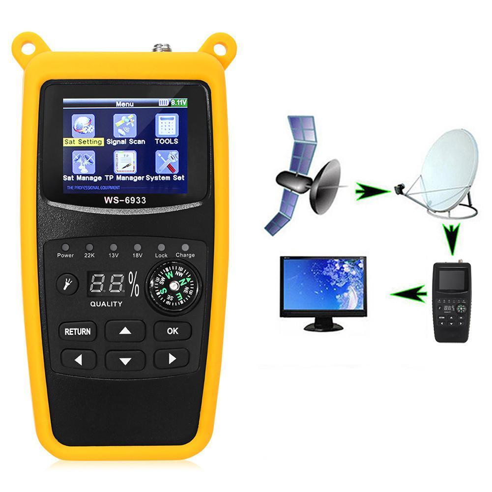 WS-6933 Programmable Digital Satellite Meter with Rechargeable Battery