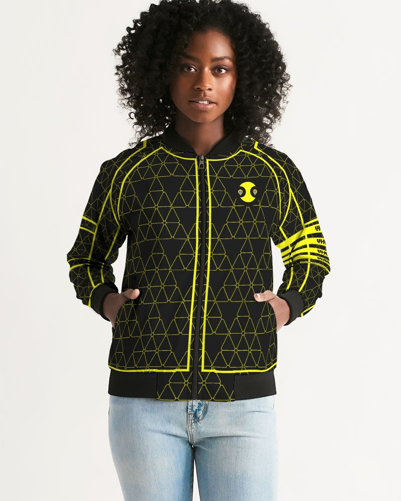 Weareuhuru Black Pattern (No Art) Women's Bomber Jacket