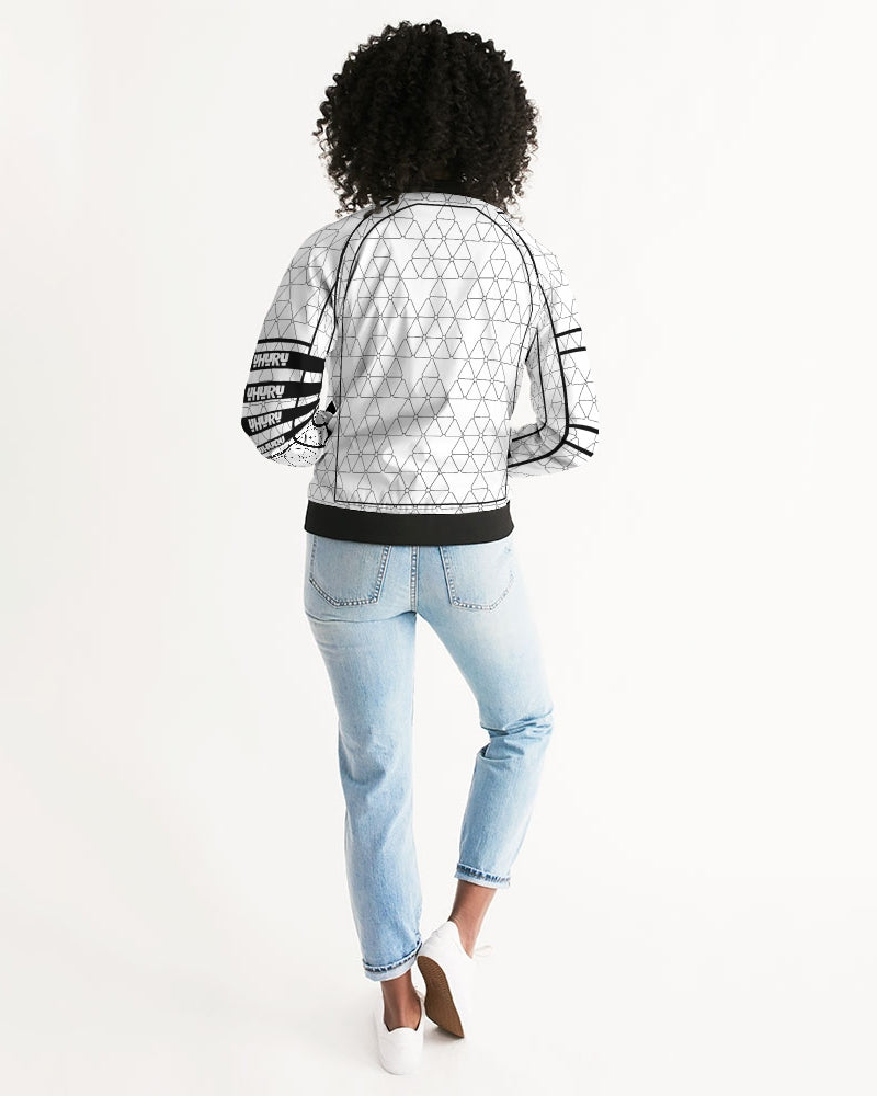 Weareuhuru White Pattern (No Art) Women's Bomber Jacket