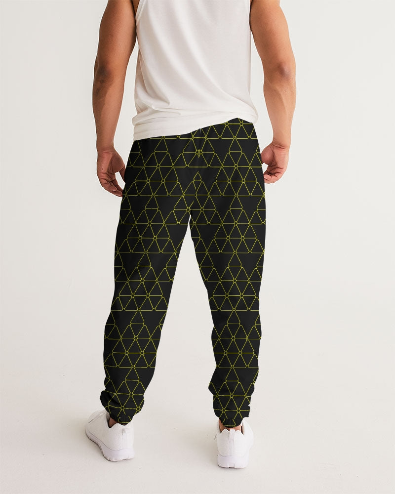 Weareuhuru Black Pattern Men's Track Pants