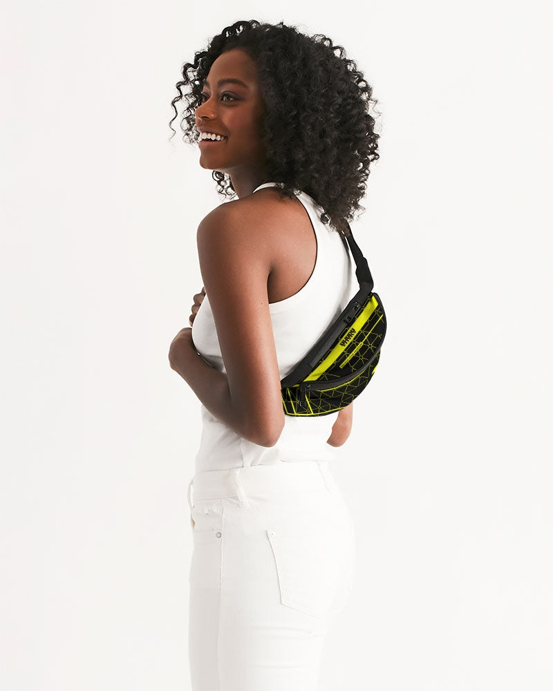 Weareuhuru Black Pattern Crossbody Sling Bag