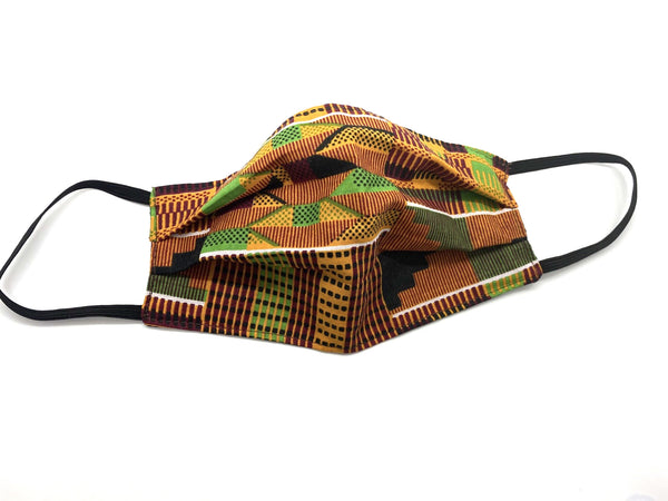 Kente Pleated Cotton Mask