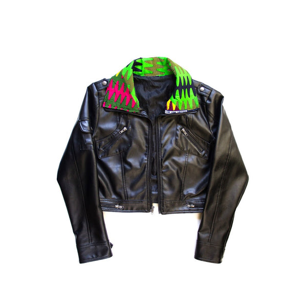 Women's Biker Faux Leather Jacket