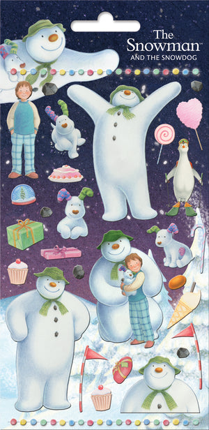 The Snowman Foil Stickers