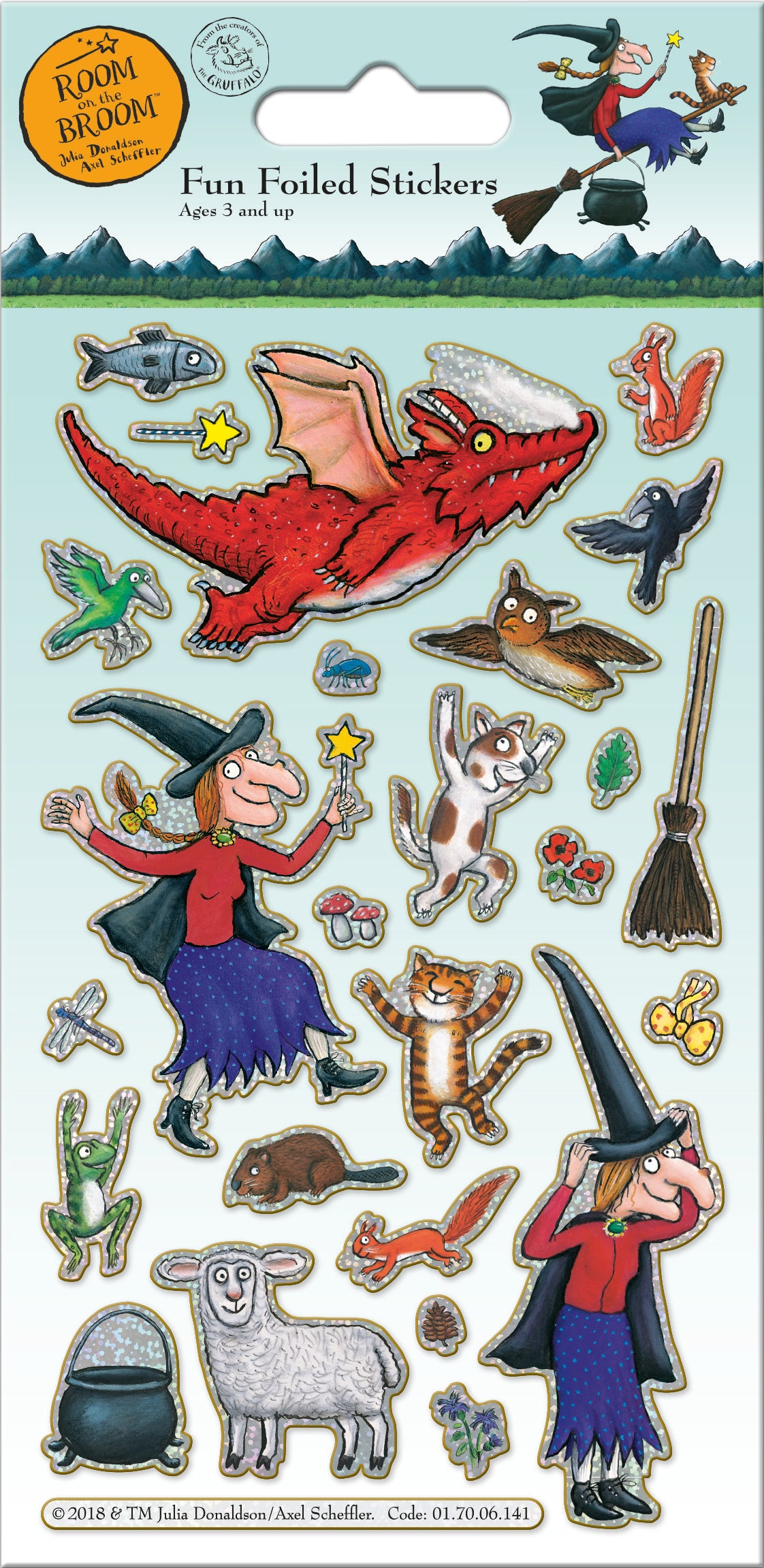 Room On The Broom Character Stickers G I T D Toys
