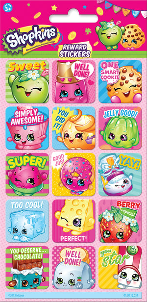 Shopkins Reward Stickers