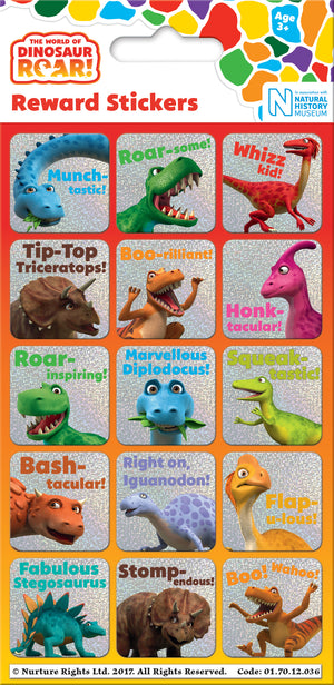 Dinosaur Roar Reward Stickers