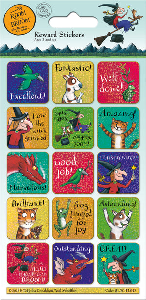 Room On The Broom Reward Stickers