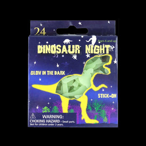 Glow In The Dark Dinosaurs And Stars Pack Of 24
