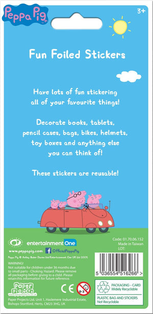 Peppa Pig Blue Sparkly Reusable Sticker Pack