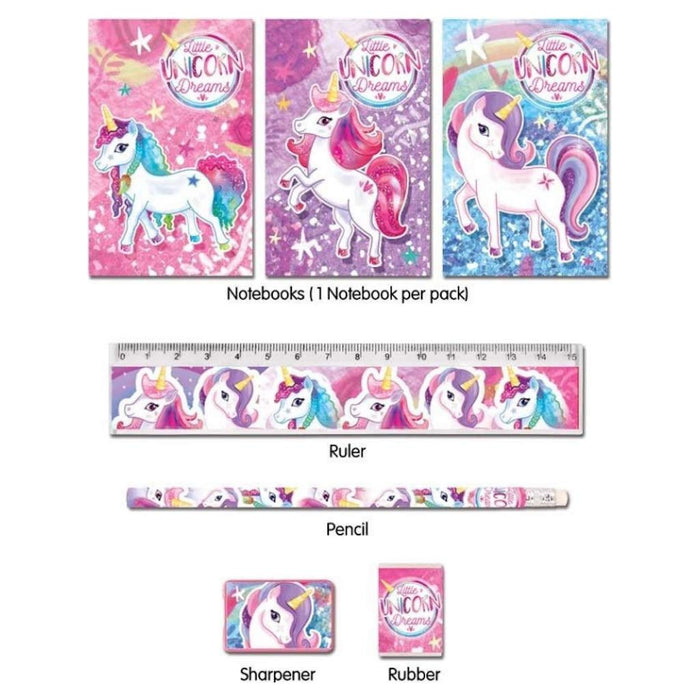 Unicorn 5 Piece Stationary Set