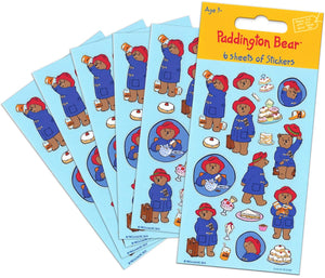 Paddington Bear Party Bag Sticker Pack (6 Sheets)