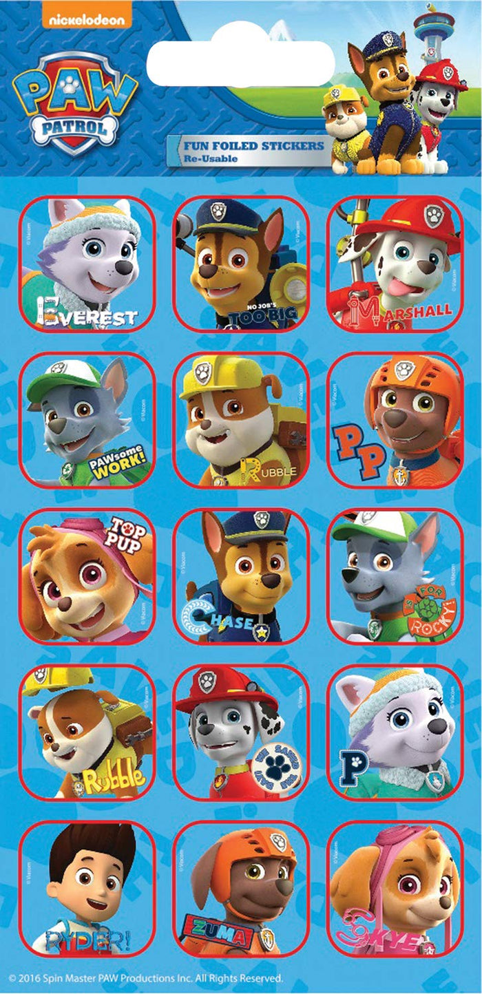 Paw Patrol Captions Foiled Sticker Pack