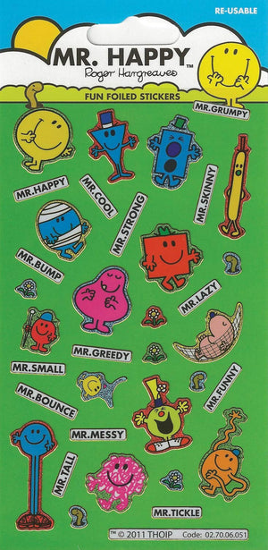 Mr Men Character Stickers