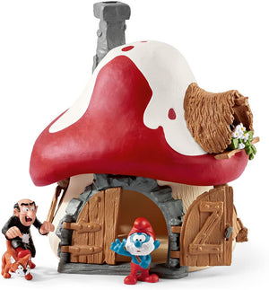 SCHLEICH SMURF HOUSE WITH 2 FIGURINES