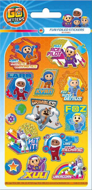 Go Jetters Foiled Sticker Pack