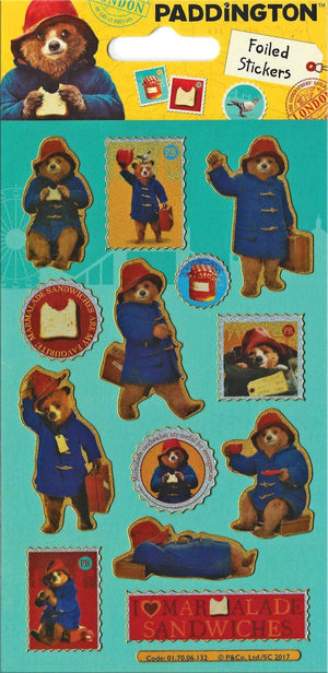 Paddington Bear Movie Sparkly Reusable Stickers