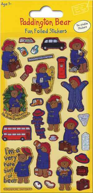 Paddington Bear Sparkly Reusable Stickers