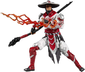 McFarlane Mortal Kombat Action Figure Raiden Bloody White-Hot Fury