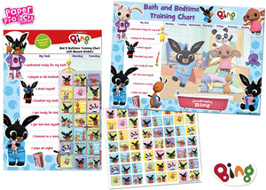 BIng Bath And Bedtime Reward Chart With 56 Reusable Reward Stickers