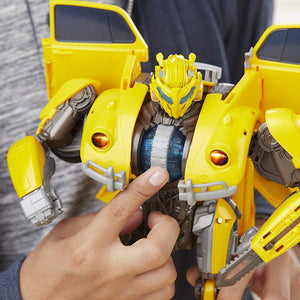 Transformers Power Charge Bumblebee Movie Figure Electronic Toy Hasbro