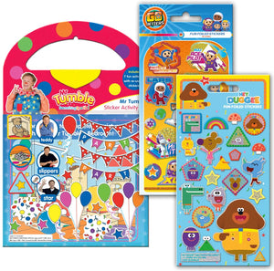 CBeebies Super Sticker Pack Paper Projects Mr Tumble, Go Jetters, Hey Douggee