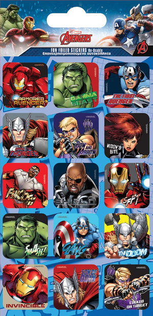 Marvels Avengers Captions Foil Stickers