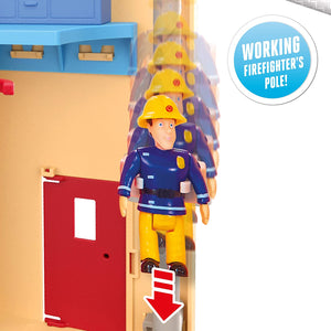 Fireman Sam Fire Rescue Centre Fire Station Playset, Figure & Accessories