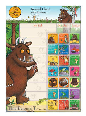 The Gruffalo Reward Chart With 56 Reusable Reward Stickers
