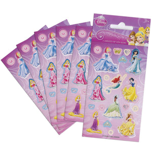 Disney Princess Party Pack 6 Sheets Of Stickers