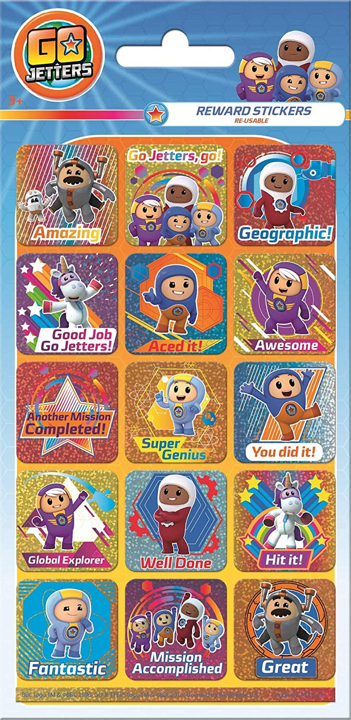 Go Jetters Reward Stickers