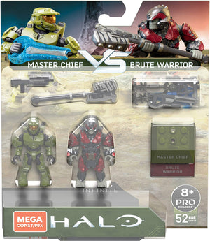 Mega Construx HALO Infinite Master Chief & Brute Warrior Conflict Pack
