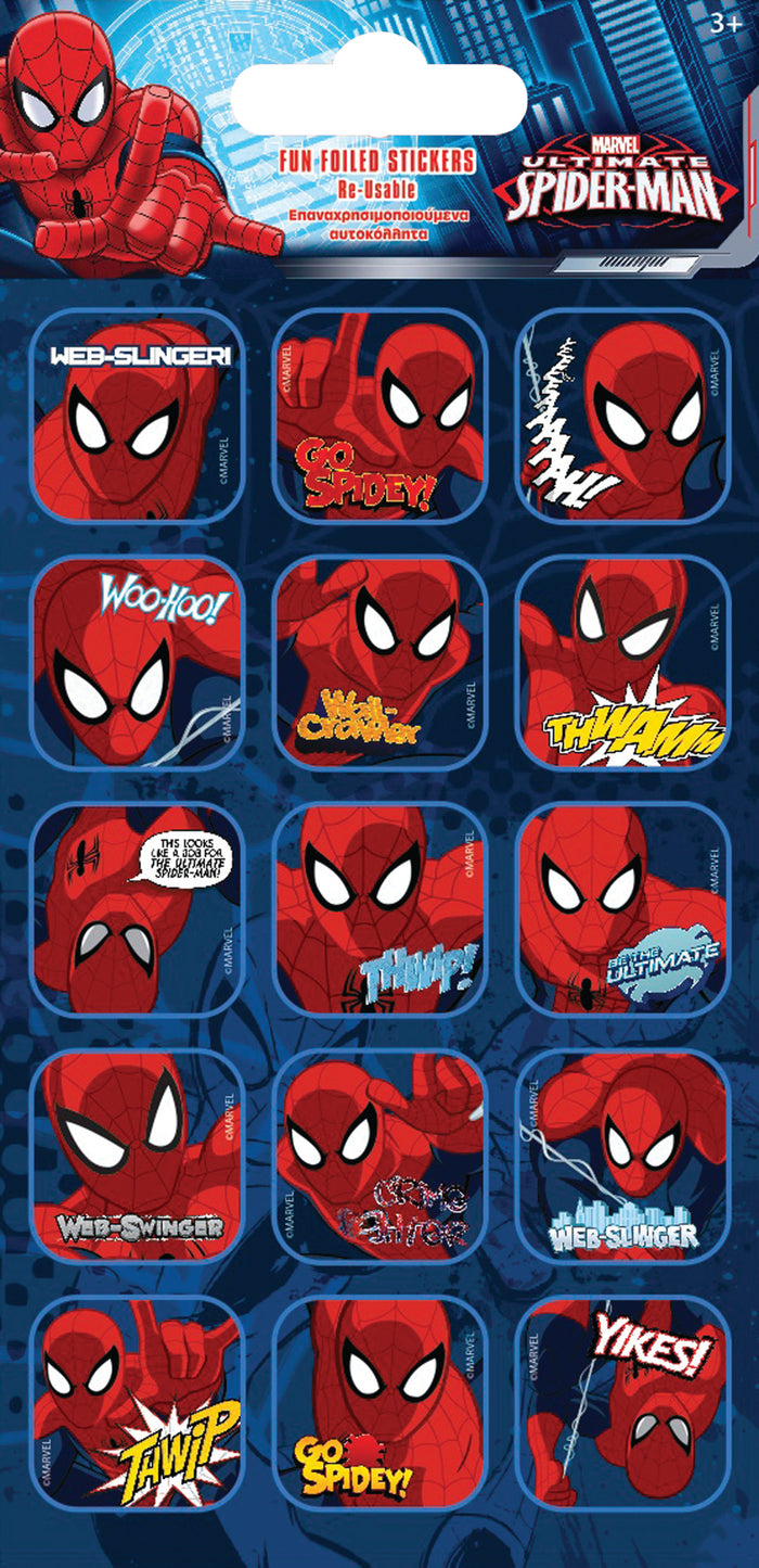 Spider Man Caption Stickers