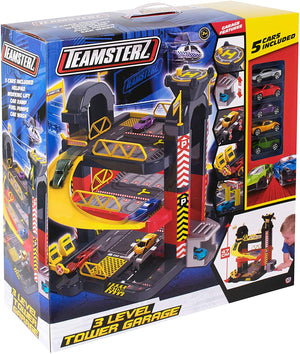 Teamsterz 3 Level Tower Garage + 5 Die-cast Cars