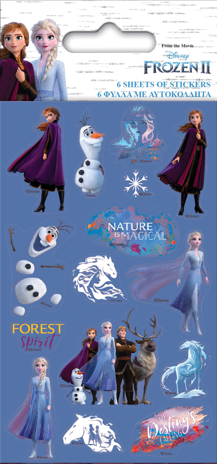 Frozen 2 Party Pack 6 sheets of Stickers