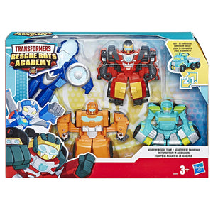 TRANSFORMERS RESCUE BOTS Playskool Heroes Academy Academy Rescue Team Pack