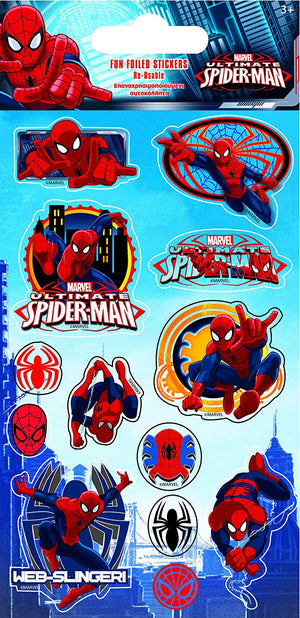 Spider Man Foil Stickers