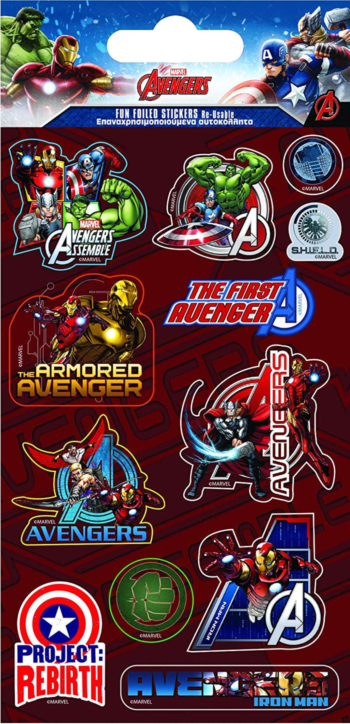 Marvels Avengers Foil Stickers