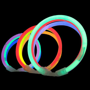 Premium Grade Glow Bracelets 8 colour mix